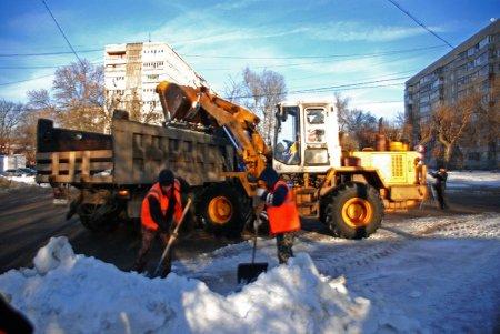 За январь с улиц Мурома вывезли снега больше,чем за прошлую зиму